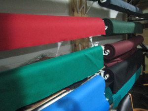 Wilson billiard table recovering table cloth colors